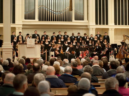 Students in the Corban University School of Music perform at the 2012 hymn festival at First Presbyterian Church. This year's event is set for Feb. 19 and 20.