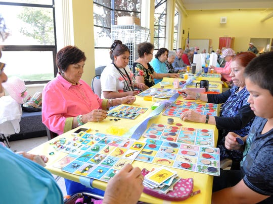 A big Loteria (Mexican Bingo) game during Wednesday's Senior Easter Party and Family Day at the Firehouse Recreation Center in Salinas.