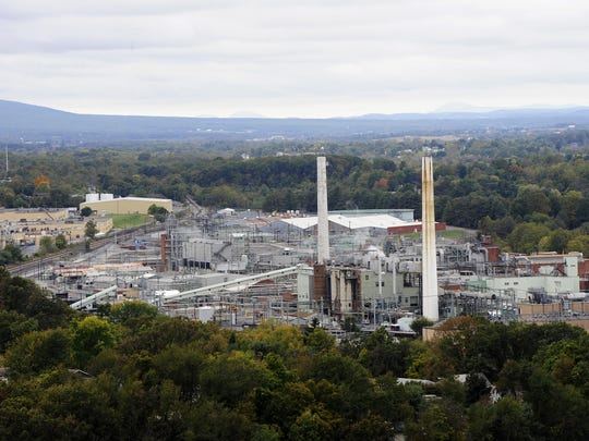 A view of the Invista plant, formerly the DuPont plant, in Waynesboro.