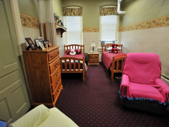 A semi-private room in Fairview Assisted Living in New Lexington.