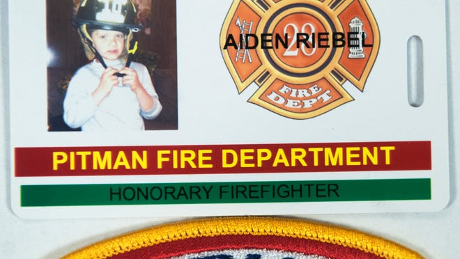 The Pitman Fire Department is one of many that has named Aiden Riebel an honorary firefighter.