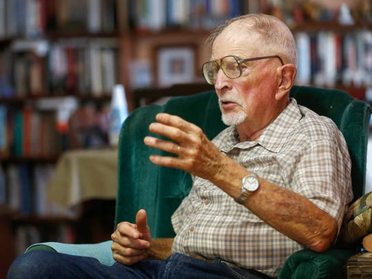 David Adams, the grandfather of Mayra Von Brandt, talks about his granddaughter and her imprisonment at the Greene County Jail on Wednesday, July 12, 2017.