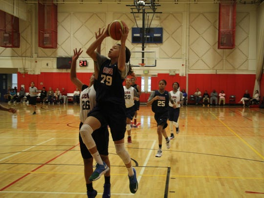 FGCU's Whitney Knight goes up for a shot at U.S. Junior
