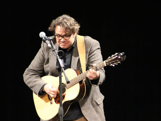 Singer-songwriter and storyteller Sam Paye returns Saturday to one of his favorite venutes, the O.C. Tanner Amphitheater in Springdale.