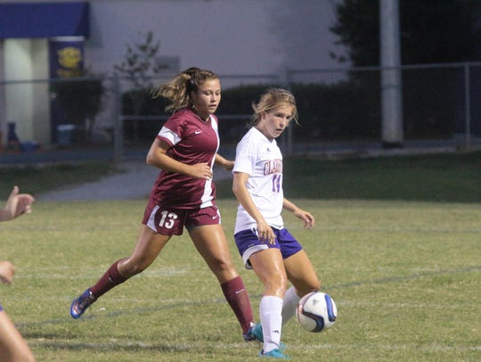 Clarksville's Salera Jordan looks to family for support.