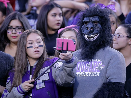 Franklin High School students get ready to take a selfie
