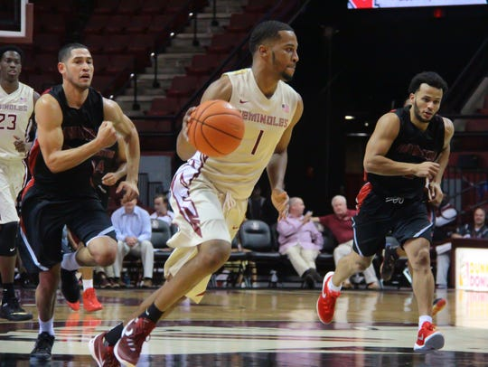 Devon Bookert finished with 18 points for FSU as they