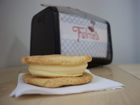 Thelma's Treats offers an ice cream sandwich featuring