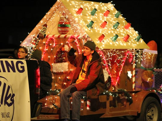 The Deming Elks Lodge 2750 gingerbread house was a big hit during  a past Kiwanis Christmas Light Parade in Deming..