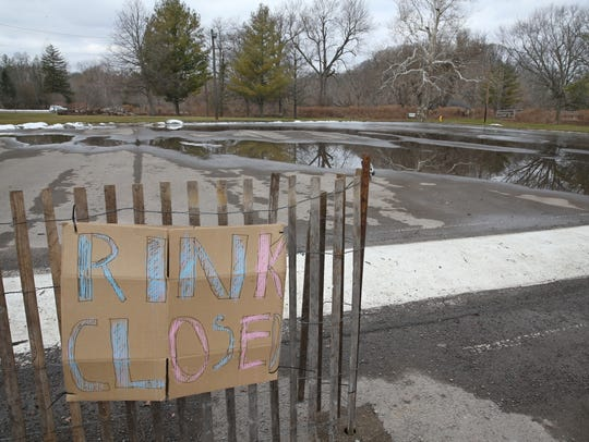 The skating rink at Ellison Park is closed, and is