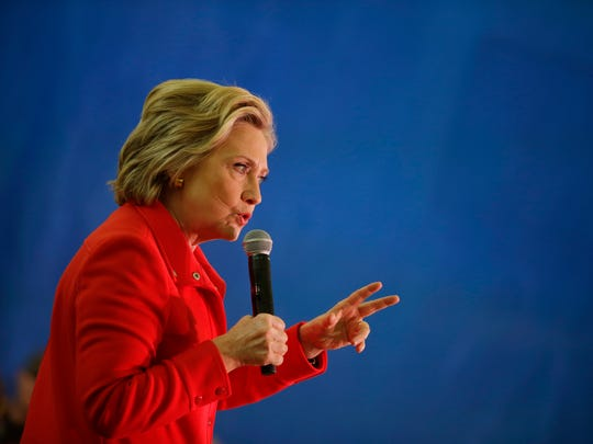 Hillary Clinton speaks at a rally Monday in Reno, Nev.