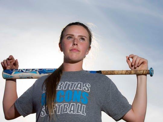 Veritas Prep softball pitcher Lainey Stephenson is