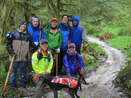 Volunteers with the Salem Area Trail Alliance put countless hours into creating the new Catamount Trail at Silver Falls State Park.