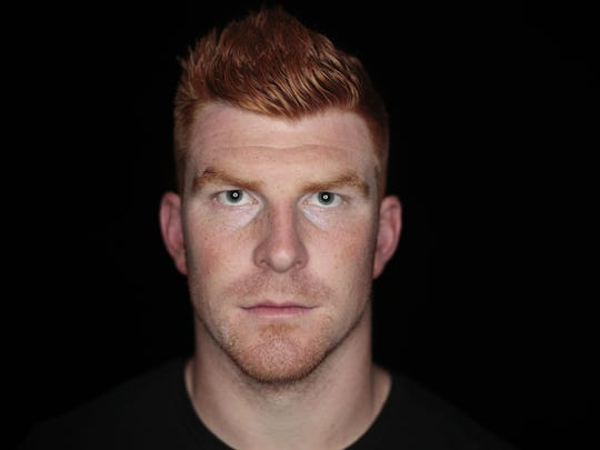 A portrait of Andy Dalton taken at Paul Brown Stadium