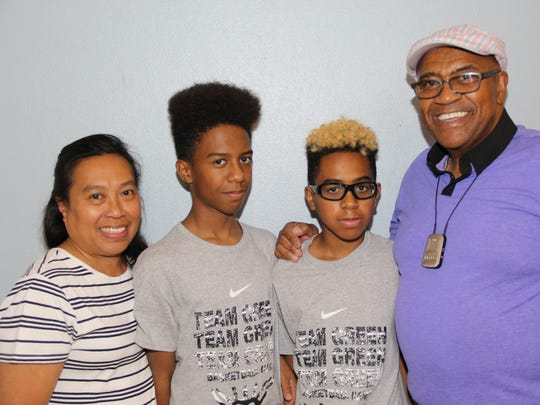 Portia Reeves, from left, Devean Reeves, Jayson Reeves and Alfred Reeves