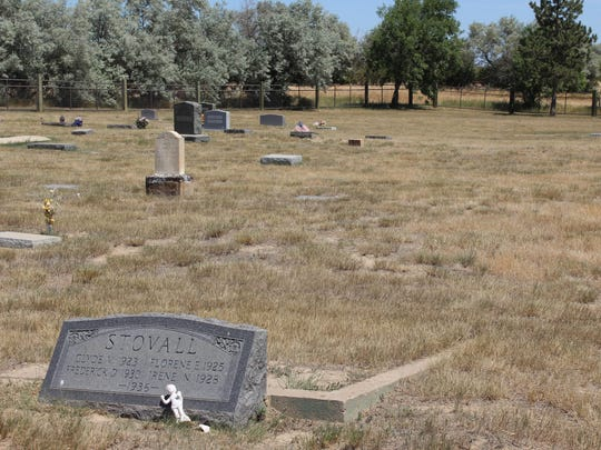 After a fire in 1936, four of the Stovall children were buried together. Their parents and siblings are buried nearby.