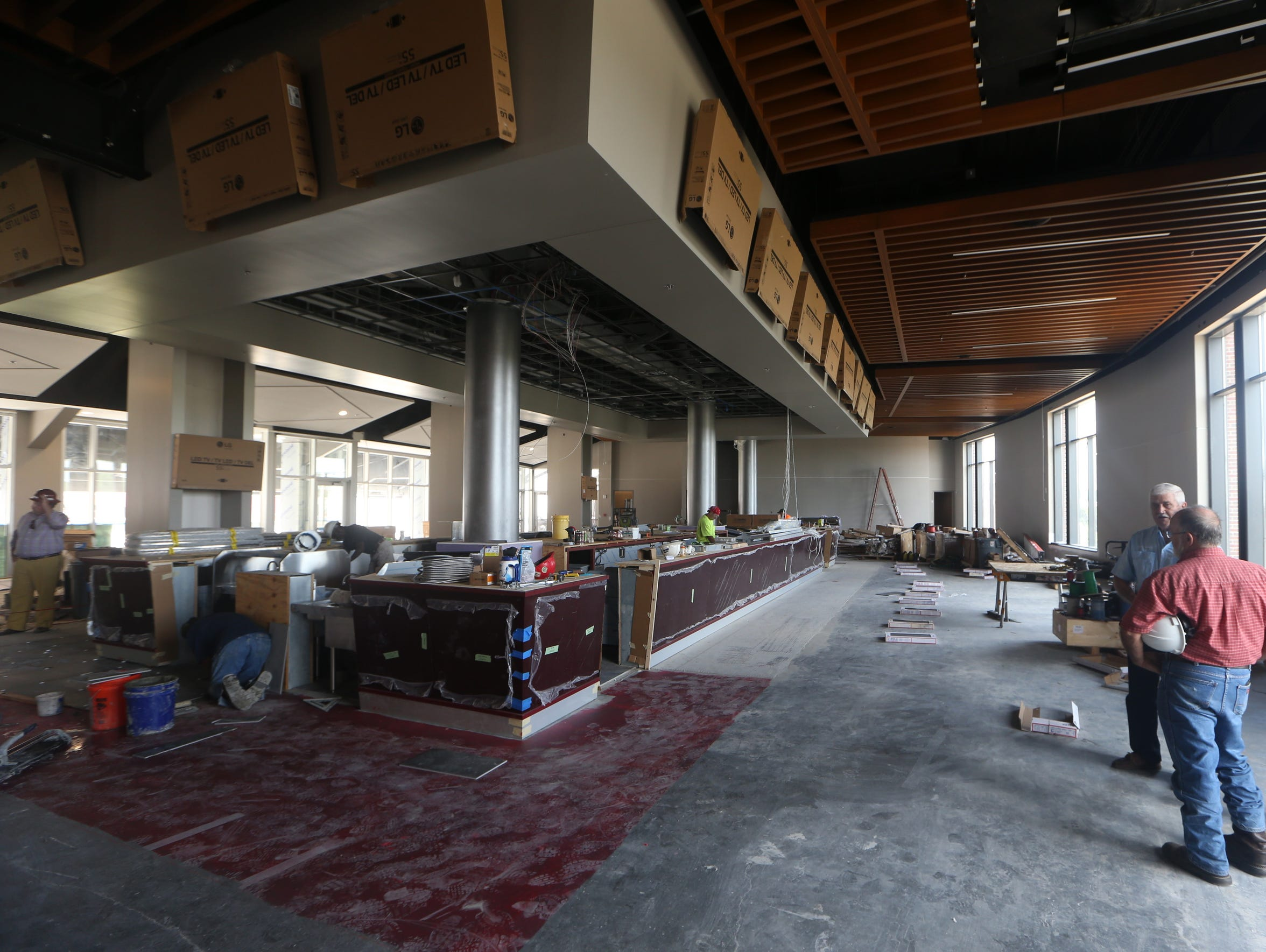 A view of a bar area on the fourth floor of the new
