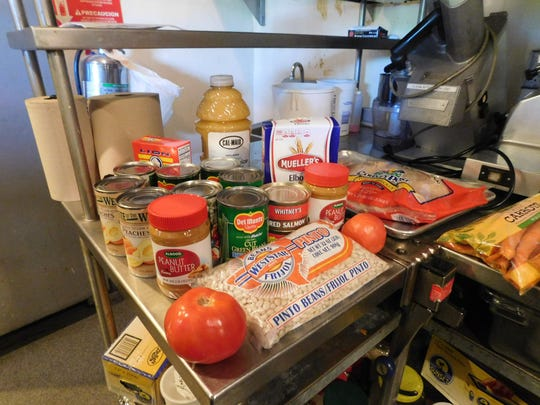 Ingredients for the chef's cooking challenge hosted by United Food Bank.