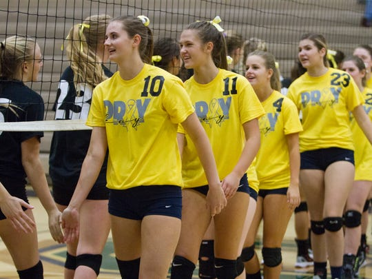 Members of the Snow Canyon High School volleyball team