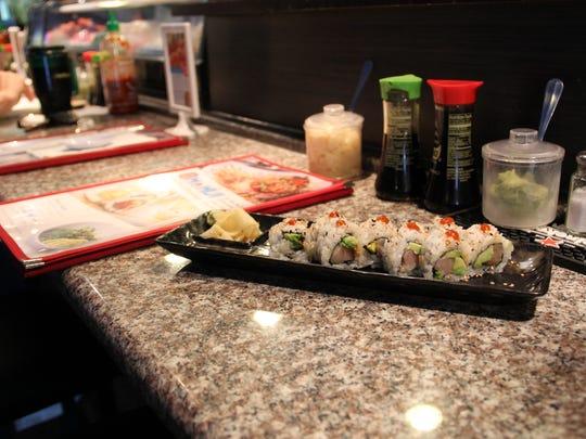 Spicy yellowtail roll at Momiji Japanese Restaurant on Silverton Road. Oct. 20, 2016