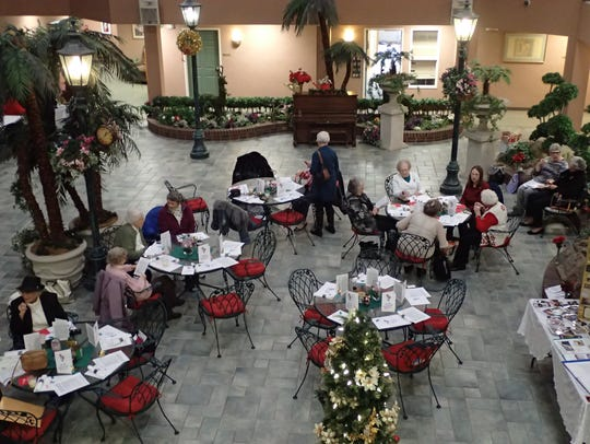 The Rainbow Garden Club held a luncheon in the atrium