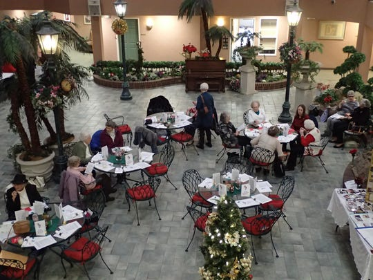 The Rainbow Garden Club held a luncheon in the atrium at the Rainbow to celebrate its 60th anniversary.