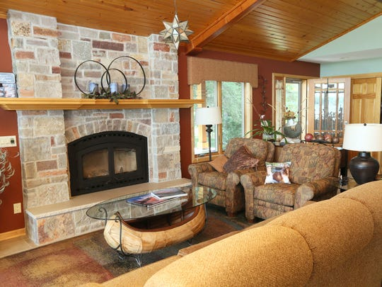 The third rendition of this fireplace was finally right for Jeff Otto and his wife, Laura Otto, in their Delafield home.