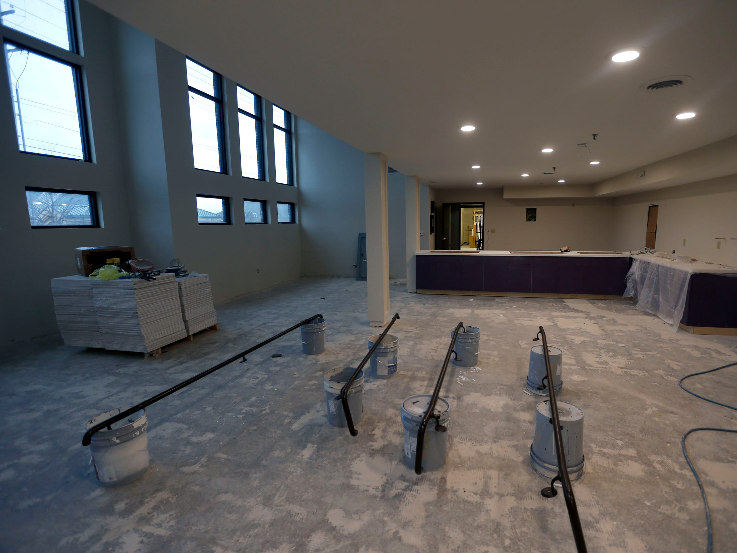 The new dining area at the future home of Harmony House
