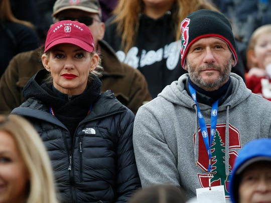 Country music stars Faith Hill and Tim McGraw were at the Hyundai Sun Bowl to support Stanford, where their daughter is a cheerleader