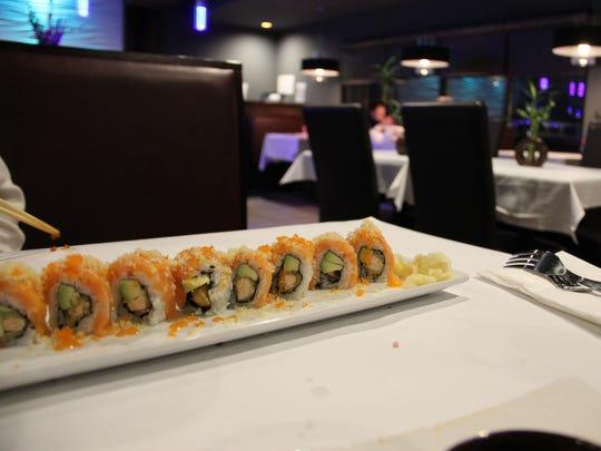 The Salmon Lover roll at Nagoya Japanese Steakhouse