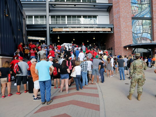 Chihuahuas fans came early and stood inline to be one