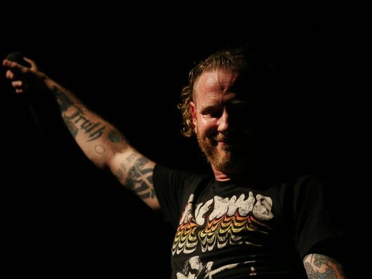 Corey Taylor, Des Moines native and lead singer of Stone Sour, plays a hometown show at Wooly's on Monday, May 22, 2017, in Des Moines.