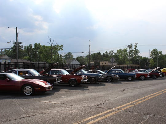 Historic cars line the railroad tracks along North Egg Harbor road Friday evening for the 24th annual Cruisin Mainstreet in Hammonton.