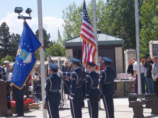 The Malmstrom Air Force Base Honor Guard presents the