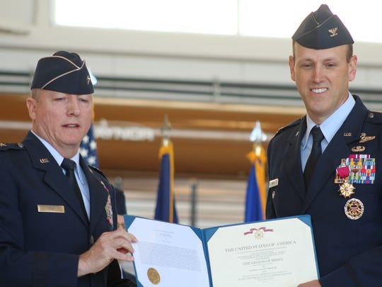 Incoming 120th Airlift Wing Commander Col. Buel Dickson