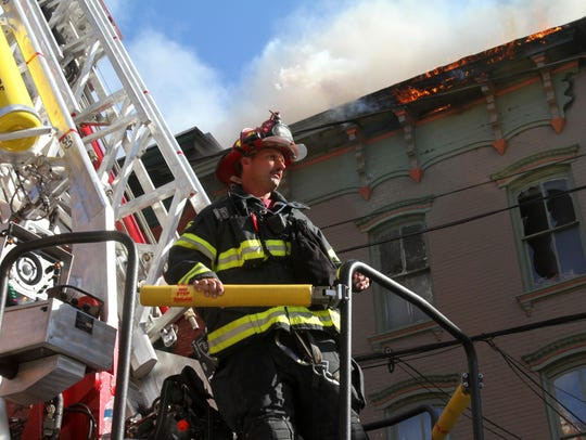 Firefighters from several Dutchess County departments