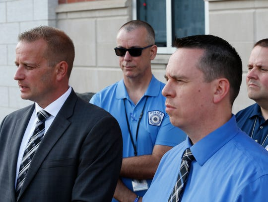 From left, Broome County District Attorney Steve Cornwell,