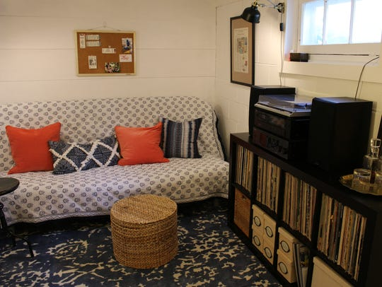 A new cover and decorative pillows turned an uninviting