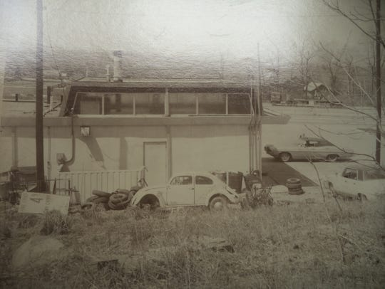 Side view of Eddie's Service Station in Wappinger,
