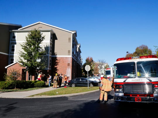 Local fire departments respond to a fire at U Club