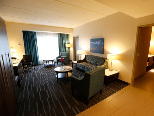 An executive suite at the Hotel at Tioga Downs in Nichols