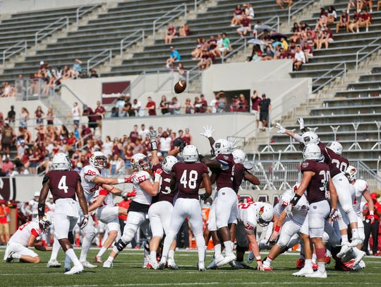 A sparse crowd was on hand to watch Missouri State