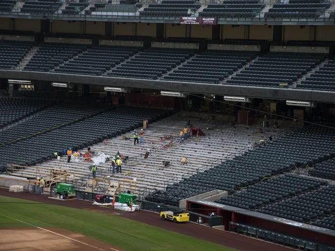 Construction workers have begun tearing apart seat