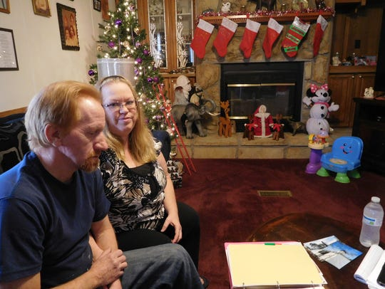 Billy and Rebecca Dula inside their home in Linwood,