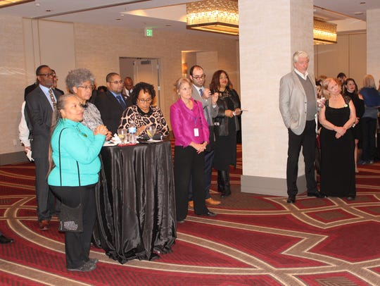 A reception at the Richmond Hilton for the NAACP.