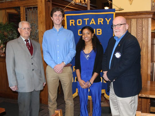 The Rotary Club of Red Lion - Dallastown is proud to announce the January Students of the Month from both Dallastown and Red Lion Senior High Schools. Pictured from left are Club member Vernon Tyson, Dallastown students Jakob Plowman and Nylani Powell and Club member George Flickinger.