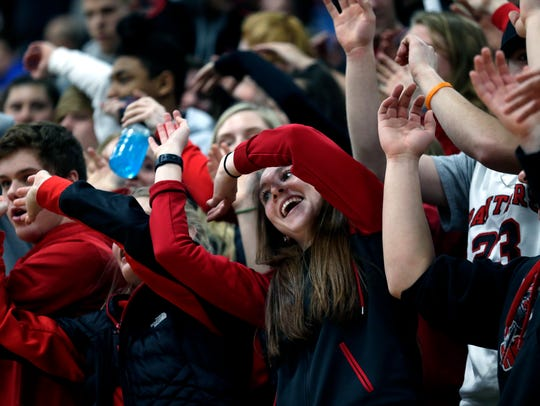 SPASH fans cheer for their team during the Border Battle