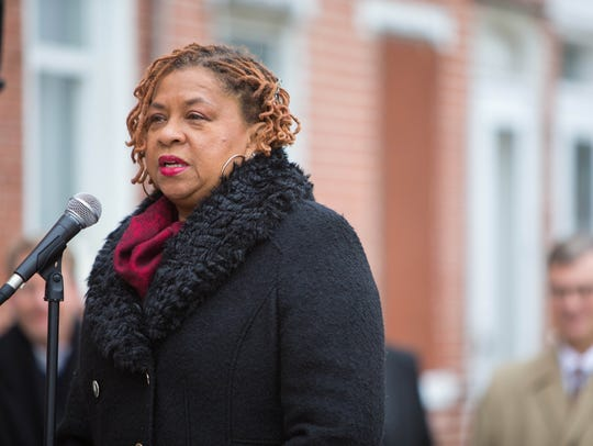 Wilmington City Council President, Hanifa Shabazz speaks