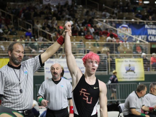 Florida High junior Max Metcalf placed sixth at 138 pounds in the Class 1A state wrestling tournament in Kissimee.