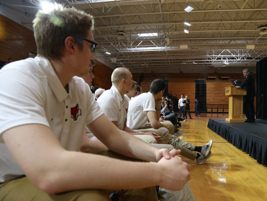 Several Marist men's basketball players, including